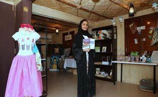 Maryam al-Subaiey, fondatrice de la société Q-Talent, dans son magasin à Doha le 23 février 2015