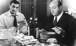 Monsieur Fernand, le Montalbanais, et Raoul Volfoni dans la scène culte de la cuisine.