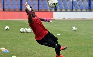 Le gardien du Togo Kossi Agassa à l'entraînement pendant la CAN.