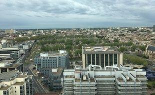 La ville de Bordeaux, vue depuis l'hôtel de la métropole.