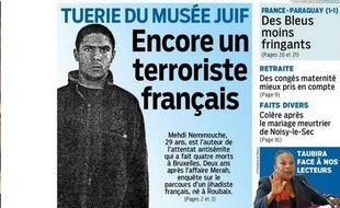 Capture d'écran de la Une du quotidien Aujourd'hui en France.