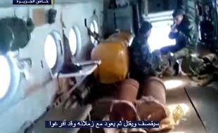 Photo extraite de la vidéo mise en ligne par Al Jazeera