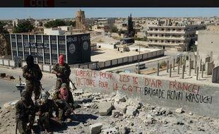 La brigade Krasucki en Syrie, s'adressant à la CGT Air France.
