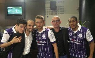 Bosse, Hautcoeur, Blin (joueur de Toulouse), Thomas et Vicaut.