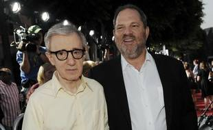 Woody Allen et Harvey Weinstein à Los Angeles, en 2008.