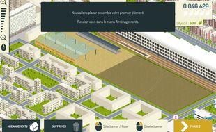 La mairie de Paris a lancé un jeu gratuit, accessible depuis smartphone ou ordinateur, pour proposer aux internautes d'imaginer les aménagements d'un futur parc.