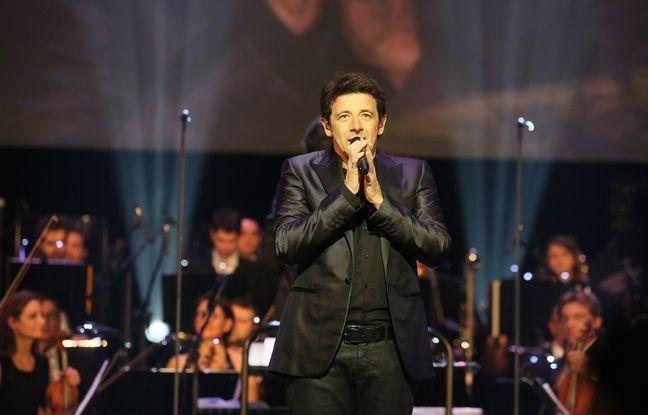 Patrick Bruel sur scène à l'Opéra Garnier, le 12 janvier 2015.
