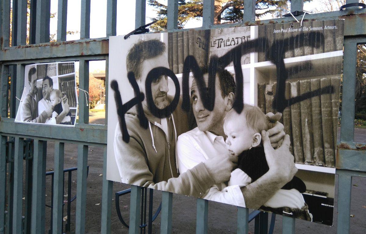 L'exposition de lutte contre l'homophobie a été l'objet de plusieurs actes de vandalisme. – H. Menal / 20 Minutes