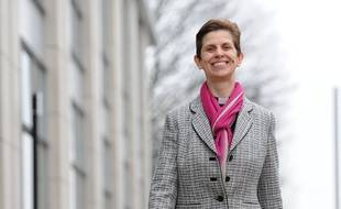 The new suffragen bishop of Stockport Reverend Libby Lane takes a stroll in Stockport, Cheshire, following news of her appointment as the Church of England's first woman bishop./GUZELIAN_150403/Credit:Asadour Guzelian/SIPA/1412171509