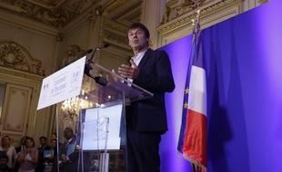 Nicolas Hulot, le 6 juillet 2017 à Paris. AFP PHOTO / Thomas SAMSON