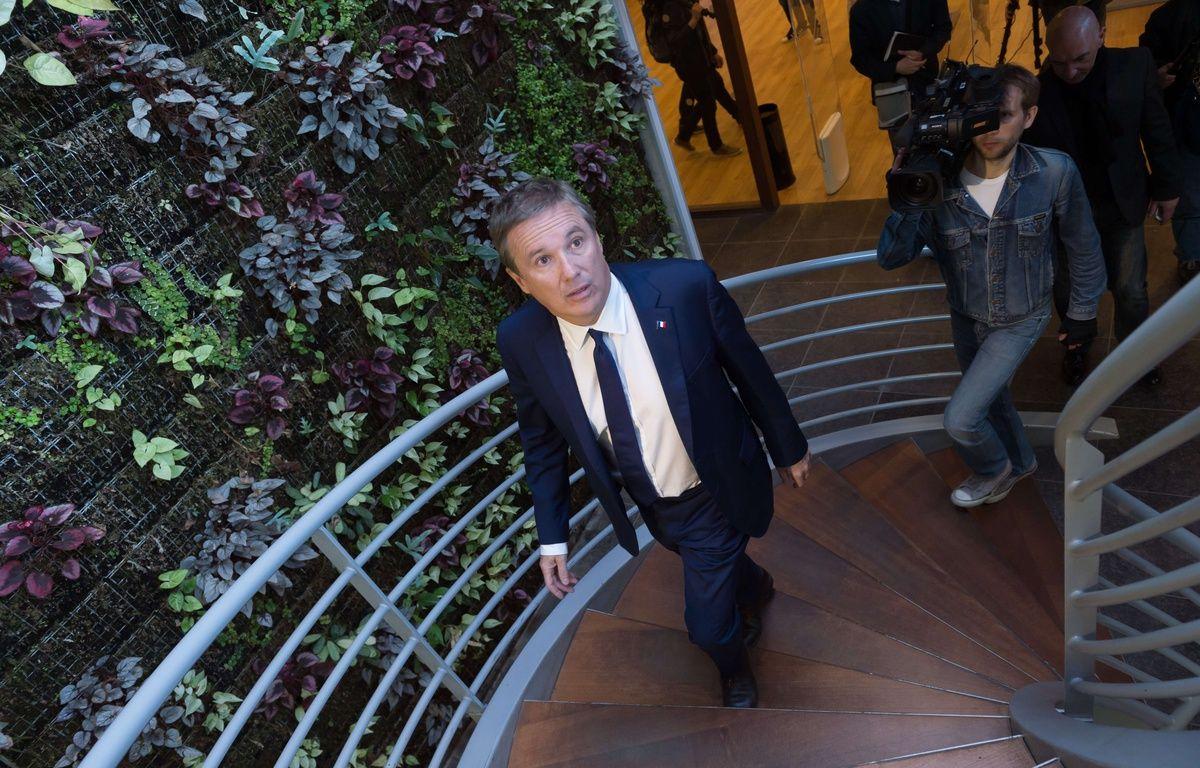 Nicolas Dupont-Aignan à Yerres, le 12 avril 2017. – Jacques Witt/SIPA
