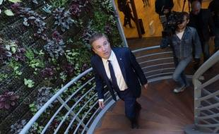Nicolas Dupont-Aignan à Yerres, le 12 avril 2017.