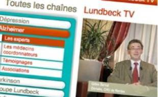 Lundbeck TV propose 200vidéos d'experts, de patients et d'aidants.