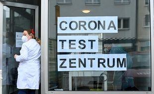 Un centre de tests Covid à Hagen, en Allemagne, le 10 mars 2021.