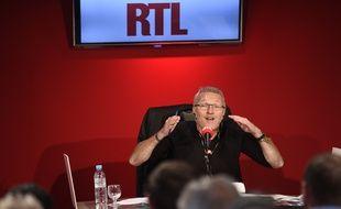 Laurent Ruquier, le 25 août, dans les studios de RTL, à Paris.