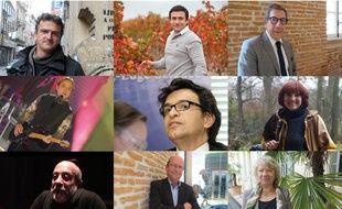 De gauche à droite de haut en bas : Pascal Dessaint, Thomas Fantini, Marc Ivaldi, Emile Wandelmer, Bertrand Monthubert, Anne-Marie Faucon, Didier Carette, Yvon Parayre et Marie-France Barthet.