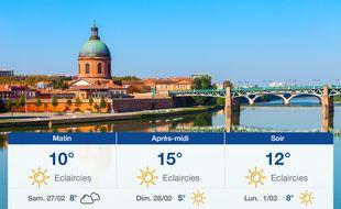 Météo Toulouse: Prévisions du vendredi 26 février 2021