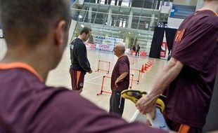 Le Paris handball à l'entraînement, le lundi 10 mai 2010