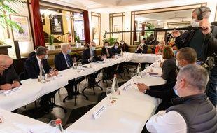 Bruno Le Maire, ministre de l'Economie, et Alain Griset, ministre chargé des Petites et Moyennes Entreprises ont reçu, ce mardi 5 janvier, les représentants des restaurateurs.
