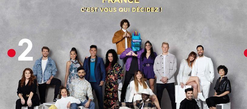 Les artistes en lice dans Eurovision France : C'est vous qui décidez.