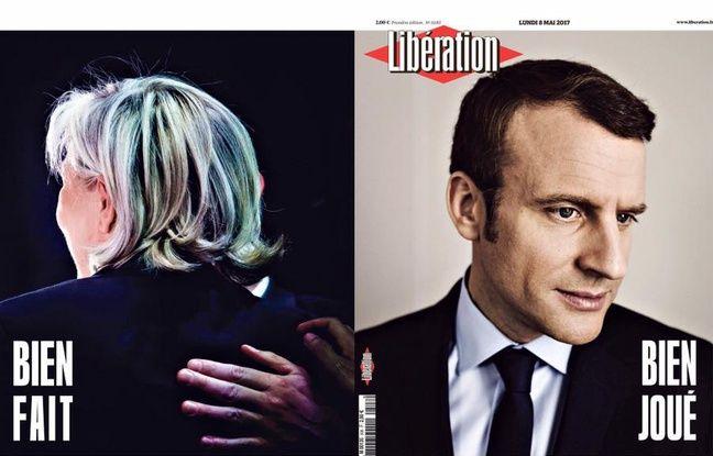 Une et 4ème page de Libération, 8 mai 2017