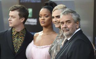 Dane DeHaan, Rihanna, Cara Delevingne, Luc Besson à l'avant-première de Valerian.