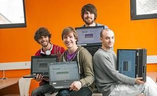 Quatre étudiants Bordelais ont crée le site Sharroom.
