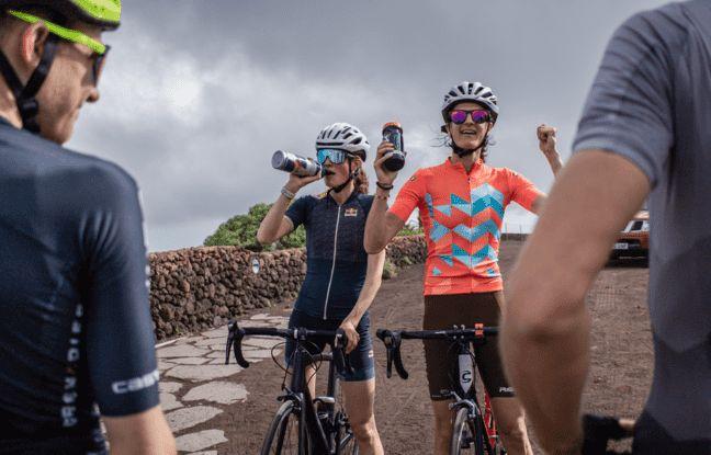 Camille Bruyas est une adepte des longues sessions de vélo de route.