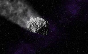 Un astéroïde. Illustration.
