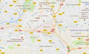 La quartier Moulins, à Lille.