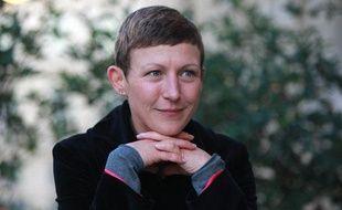 Marie Bové dans le jardin du grand théâtre de Bordeaux le 21 octobre 2009.
