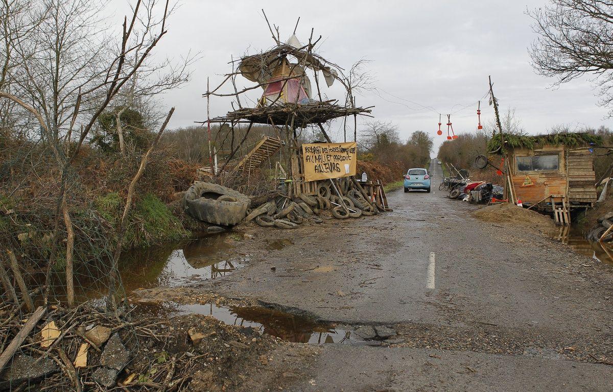 Un barrage entre la Paquelais et Notre-Dame-des-Landes. – FABRICE ELSNER/20MINUTES