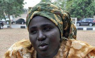 Rebecca Samuel, 36 ans, dont la fille a été enlevée par Boko Haram, le 25 février 2015 à Abuja (Nigeria)
