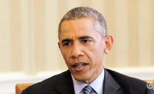 Barack Obama dans une interview filmée par le