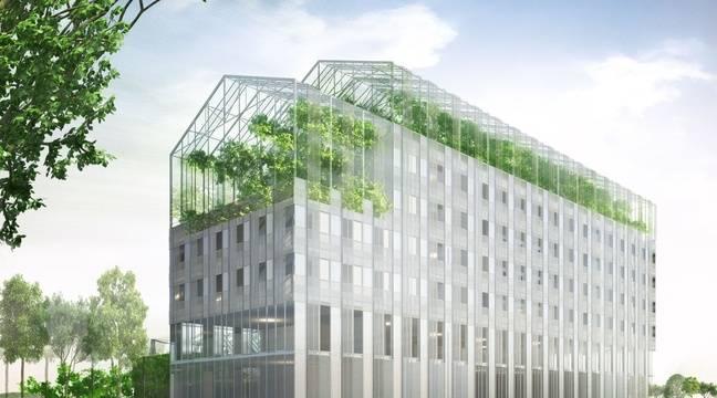 nantes un lieu central pour les sdf ouvert sur la ville avec une ferme sur le toit. Black Bedroom Furniture Sets. Home Design Ideas