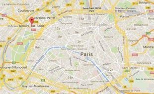 Capture d'écran de Neuilly-sur-Seine (Hauts-de-Seine).
