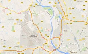 Carte de localisation de Blagnac (Haute-Garonne) sur Googlemap.
