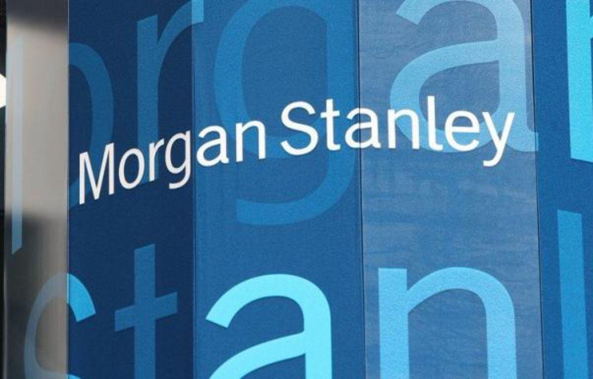 """La banque américaine Morgan Stanley va éliminer 1.600 postes dans ses activités de courtage d'action ou d'obligations et de banque d'investissement, a indiqué à l'AFP une source proche du dossier, précisant que les départs auraient lieu """"dans les quelques semaines à venir"""". – Mario Tama afp.com"""