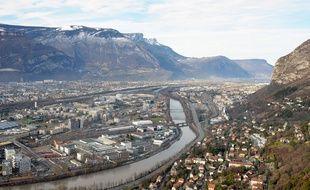 Paysage de la ville de Grenoble