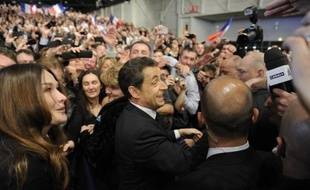 """Nicolas Sarkozy a affirmé que la France touchée par la crise de 2008 avait """"échappé à une catastrophe"""", et estimé que ceux qui """"font comme si rien de grave ne s'était passé depuis trois ans mentent aux Français"""", dimanche lors de son premier grand meeting de campagne à Marseille."""
