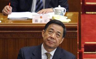 """Bo Xilai, ancien membre du Bureau politique du Parti communiste, âgé de 63 ans et détenu au secret depuis avril, doit répondre notamment d'accusations de corruption """"massive"""" et d'abus de pouvoir."""