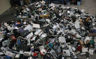 Une usine de traitement de déchets électroniques (illustration).