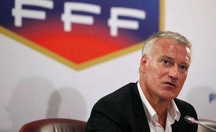 Didier Deschamps lors de son intronisation comme sélectionneur, le 9 juillet 2012 à Paris.