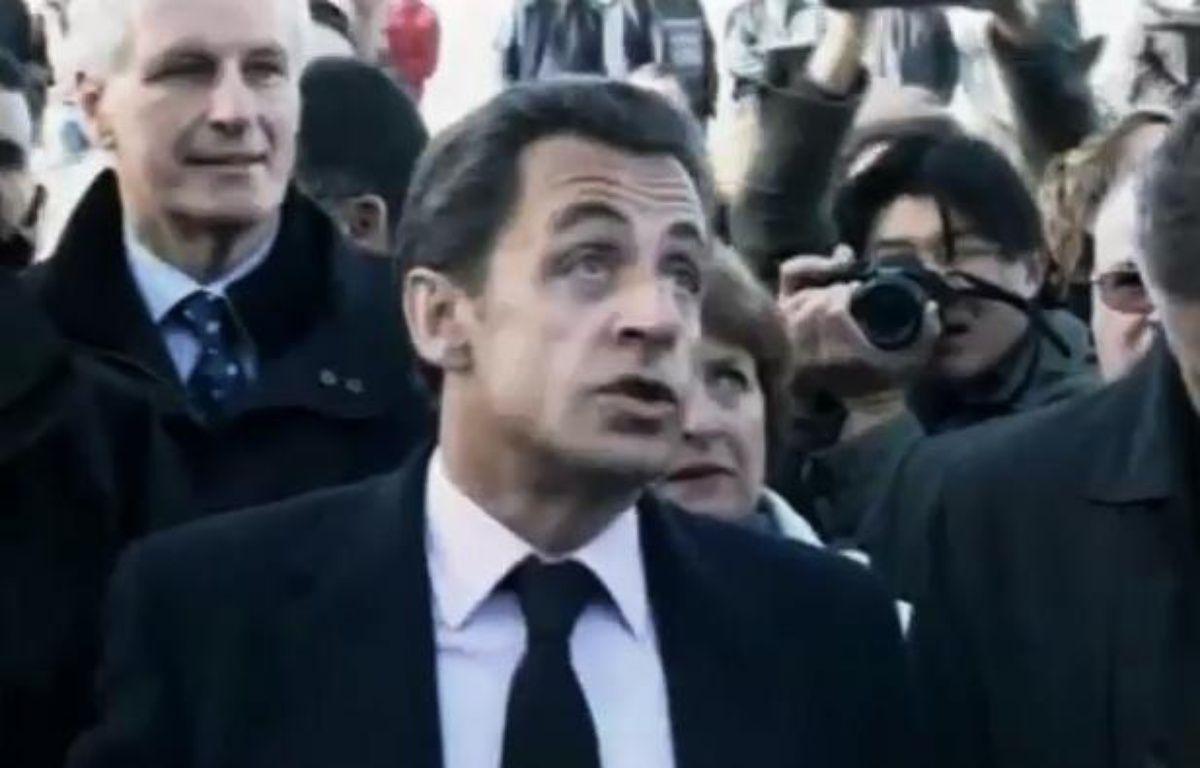 Capture d'écran du zapping sur les 5 ans de Nicolas Sarkozy à l'Elysée. – 20 MINUTES