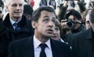 Capture d'écran du zapping sur les 5 ans de Nicolas Sarkozy à l'Elysée.