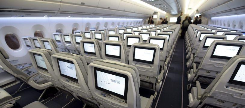 Illustration de la cabine d'un avion.