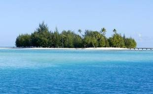 Ilot au large de Bora-Bora, en Polynésie française.
