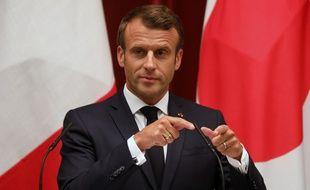 Emmanuel Macron, le 26 juin 2019 à Tokyo (Japon).