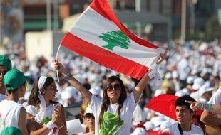 Des chrétiens du Liban pendant la messe en plein air du pape Benoît XVI, le 16 septembre 2012 à Beyrouth.
