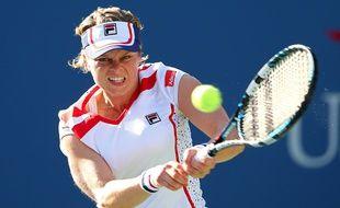 Kim Clijsters lors de l'un de ses derniers matchs en 2012.
